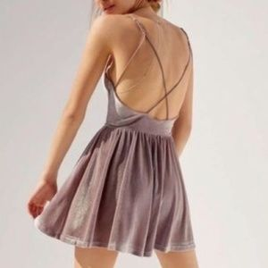 Silence and Noise Lavender Romper Strappy Back